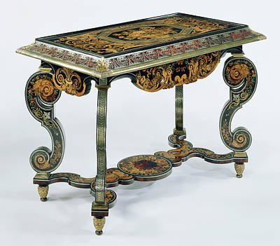 Wood Table Drawing - Table Attributed To André-charles Boulle, French, 1642 - by Litz Collection