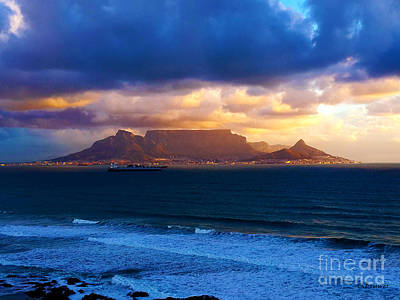 Southafrica Photograph - Table Mountain Cloud Gap by Charl Bruwer