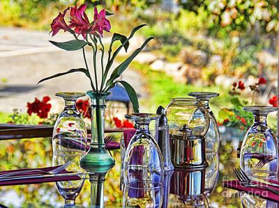 Table Setting Reflections Art Print