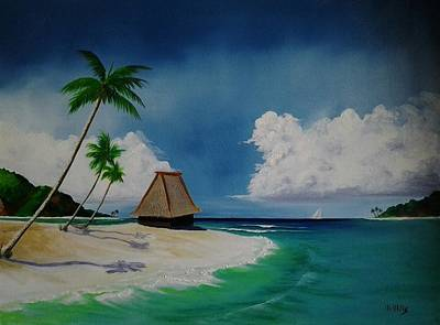 Painting - Tahiti Hut by Maria Mills