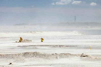 Destruction Photograph - Tailings Pond At The Syncrude Mine by Ashley Cooper