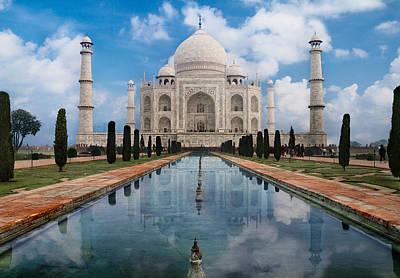 Taj Mahal In Agra Art Print by Leander Nardin