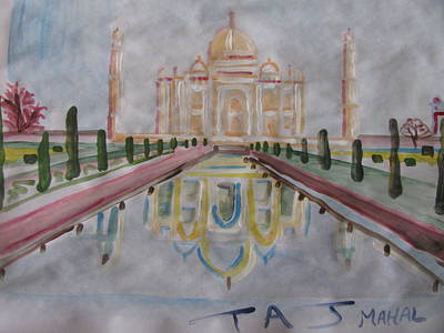 Art Print featuring the painting Taj Mahal by Vikram Singh