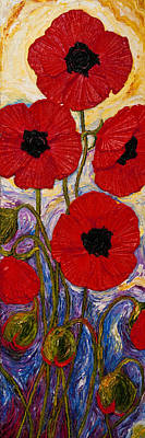 Tall Red Poppies Art Print by Paris Wyatt Llanso