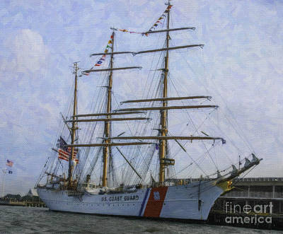 Mixed Media - Tall Ship Barque Eagle  by Dale Powell
