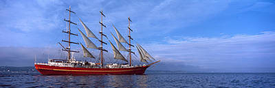 Tall Ships Race In The Ocean, Baie De Art Print by Panoramic Images