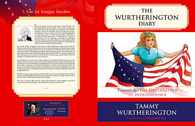 Betsy Ross Painting - Tammy And The Declaration Of Independence by Reynold Jay
