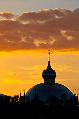 Photograph - Tampa Bay Hotel Dome At Sundown by Ed Gleichman
