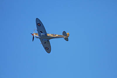 Supermarine Photograph - Tandem Supermarine Spitfire Trainer  - by David Wall