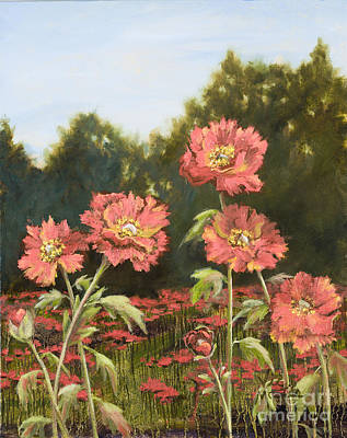 Painting - Macro Poppies II by Vic  Mastis