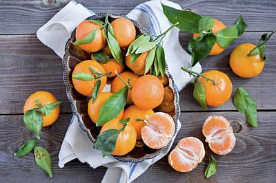 Food Photograph - Tangerines by Verdina Anna