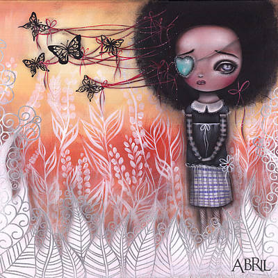 Pop Surrealism Painting - Tangled  by Abril Andrade Griffith