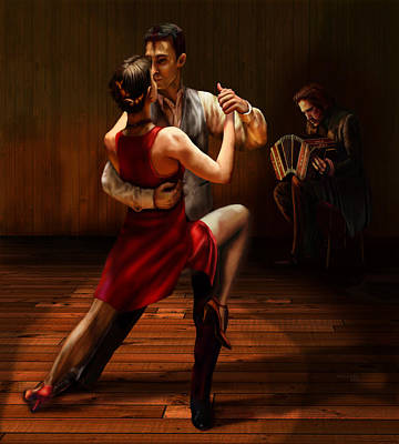 Digital Art - Tango by Virginia Palomeque