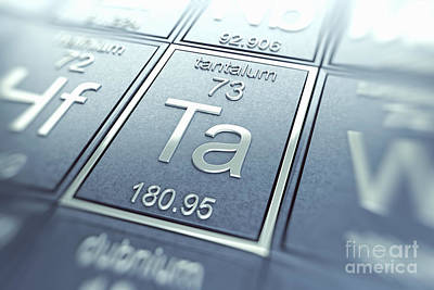 Tantalum Chemical Element Art Print by Science Picture Co