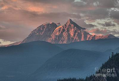 Photograph - Tantalus Mountain Sunset - British Columbia by Adam Jewell