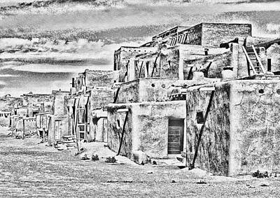 Photograph - Taos Pueblo Abstract by Wayne Wood