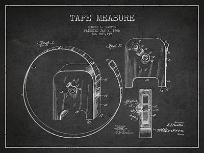 Tape Measure Patent Drawing From 1906 Art Print by Aged Pixel