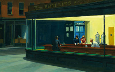 Tardis V. Edward Hopper Art Print by GP Abrajano