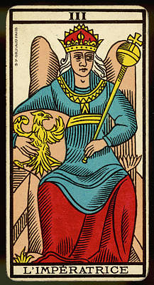 Tarot Drawing - Tarot Card 3 - L'imperatrice (the by Mary Evans Picture Library