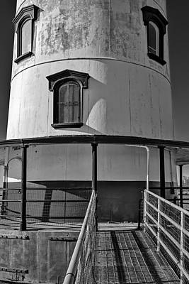 Photograph - Tarrytown Lighthouse Bw by Susan Candelario