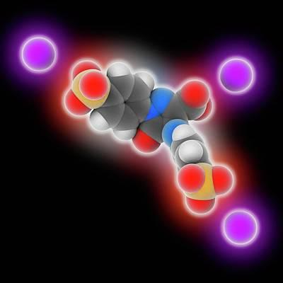 Tartrazine Molecule Art Print