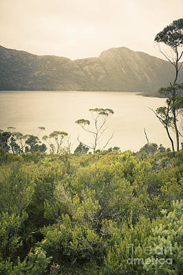 Tasmania Mountain Range Landscape Of Dove Lake Art Print by Jorgo Photography - Wall Art Gallery