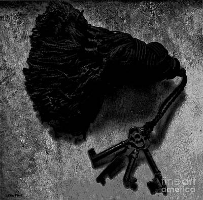 Photograph - Tassled Vintage Skeleton Keys by Lesa Fine