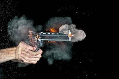 Raging Bull Photograph - Taurus Handgun Shot by Herra Kuulapaa � Precires