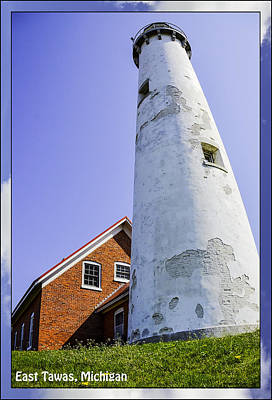 Architecture Photograph - Tawas Point Lighthouse East Tawas Michigan by LeeAnn McLaneGoetz McLaneGoetzStudioLLCcom