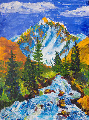 Painting - Taylor Canyon Run-off by Walt Brodis