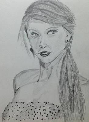 Taylor Swift Drawing - Taylor Swift by Bilal Zakir
