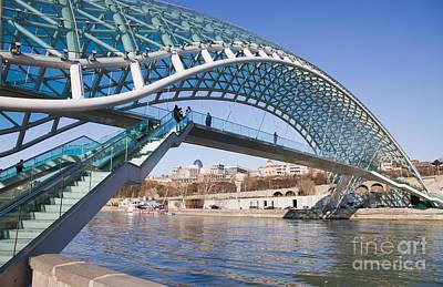 Tbilisi Photograph - Tbilisi Bridge Of Peace by Jovanovic Dragan