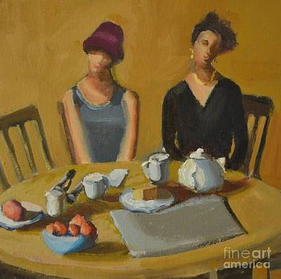 Tea Party Painting - Tea Party by Barbara Daggett