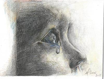 Tears Drawing - Tears by Alessandra Craxi
