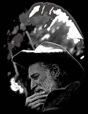Ted Degrazia Contemplating Gallery In The Sun Tucson Arizona 1969-2013 Print by David Lee Guss