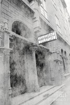 Telegraf Building In Foggy Oslo Art Print by Sophie Vigneault