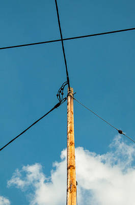 Amperage Photograph - Telephone Pole And Wires by Frank Gaertner