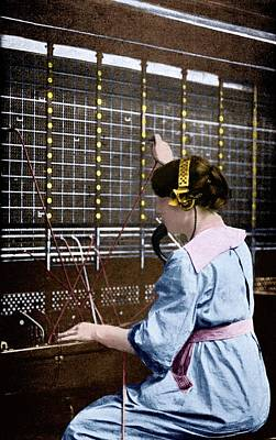 Alphonse Photograph - Telephone Switchboard Operator by Science Photo Library