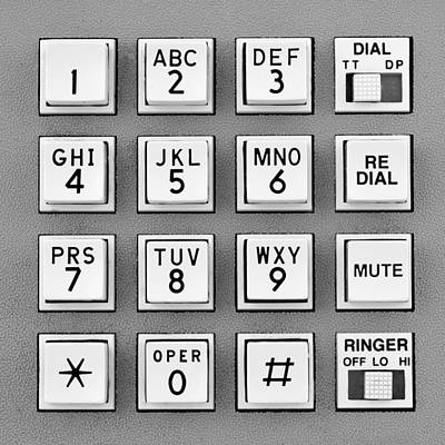 Keypad Photograph - Telephone Touch Tone Keypad by Jim Hughes