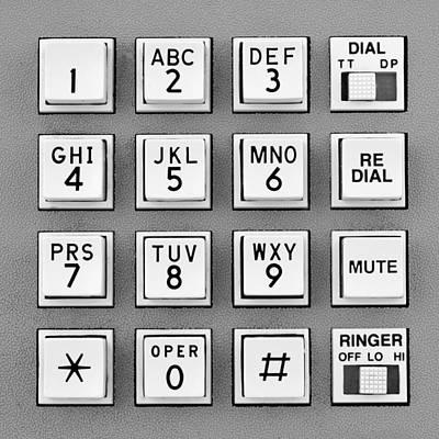 Telephone Touch Tone Keypad Art Print