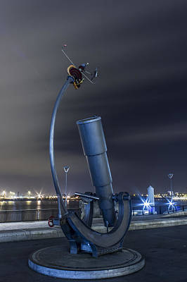 Telescope At The Pier Head Art Print