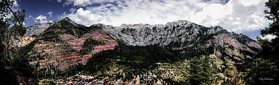 Photograph - Telluride From The Air by Lucy VanSwearingen