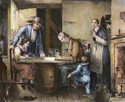 Famine Painting - Temperance Movement, 1846 by Granger