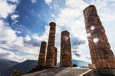 Temple Of Apollo  Delphi, Greece Art Print
