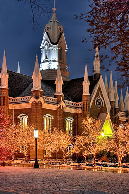 Assembly Hall Photograph - Temple Square Salt Lake City Utah by Utah Images