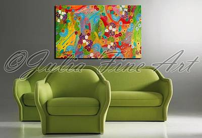 Abstract Painting - Interior Example by Julia Fine Art