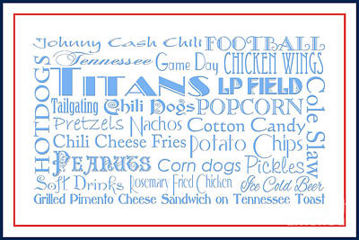 Digital Art - Tennessee Titans Game Day Food 3 by Andee Design