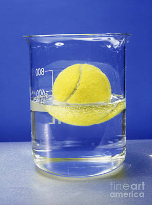 Mass Effect Photograph - Tennis Ball Floating In Water by Andrew Lambert Photography
