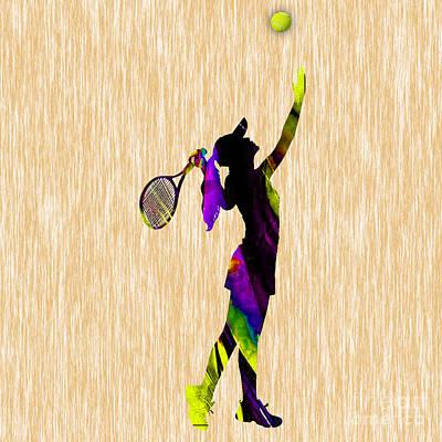 Tennis Match Art Print by Marvin Blaine