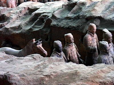 Photograph - Terra Cotta Warriors - X'iang by Jacqueline M Lewis